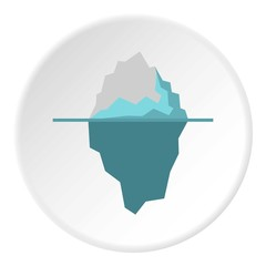 Iceberg icon. Flat illustration of iceberg vector icon for web