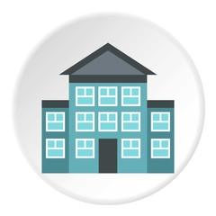 Three storey house icon. Flat illustration of three storey house vector icon for web