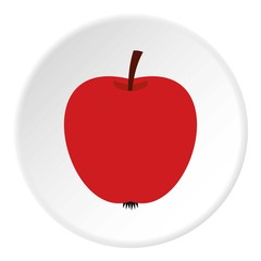 Apple icon. Flat illustration of apple vector icon for web