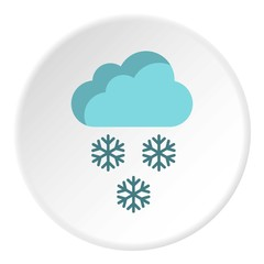 Clouds and snow icon. Flat illustration of clouds and snow vector icon for web
