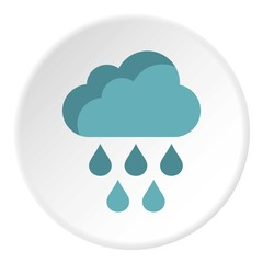 Clouds and rain icon. Flat illustration of clouds and rain vector icon for web
