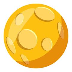 Moon icon. Cartoon illustration of moon vector icon for web