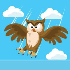 owl striking vector illustration design