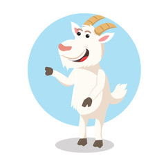 goat character vector illustration design