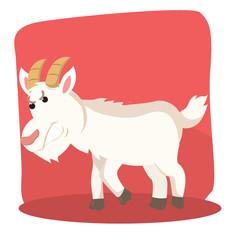 goat ramming vector illustration design