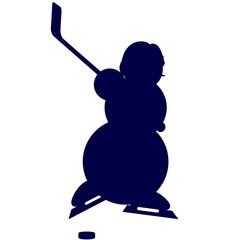 Contour athlete hockey player