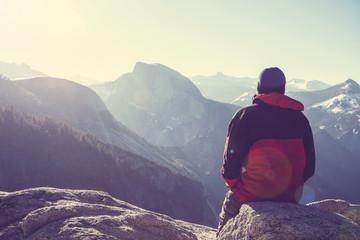 Hike in Yosemite Wall mural