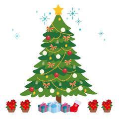 クリスマス イラスト ツリー