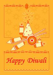 Diwali decorated firecracker
