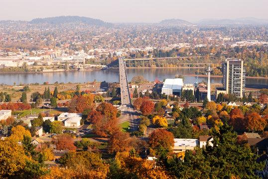 Portland Fall Cityscape
