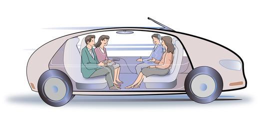 完全自動運転車のイメージ