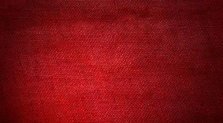 Grober roter Stoff als Hintergrund