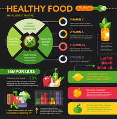 Healthy Food - poster, brochure cover template