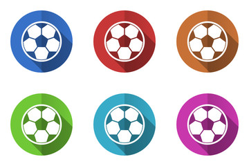 Flat design colorful vector icons