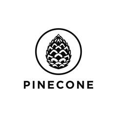 Pinecone logo vector