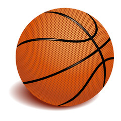Basketball on white background vector illustration.