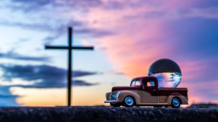 Cross In A Globe