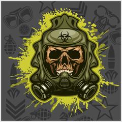 Biohazard - skull mask, virus infection