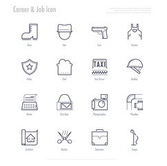 Career and working icon set. vector illustration.