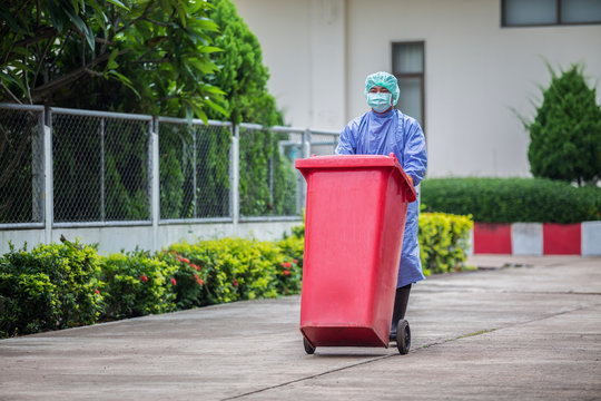 Infected people into the trash, Trash infections in hospitals