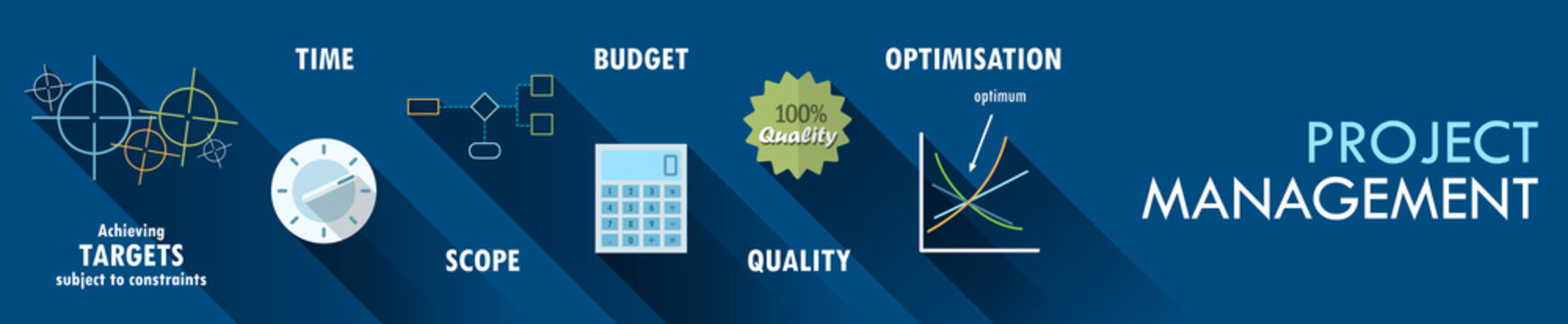 PROJECT MANAGEMENT Vector Concept Icons