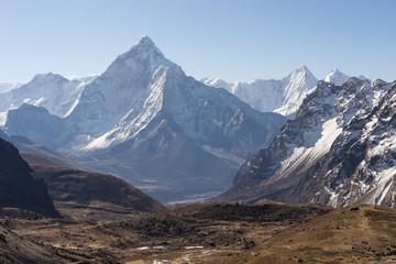 Beautiful landscape of Ama Dablam mountain peak, Everest region