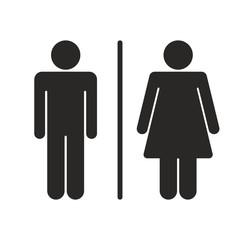 Toilet sign men and women vector