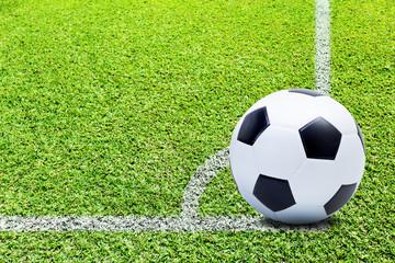 Soccer ball on play fields