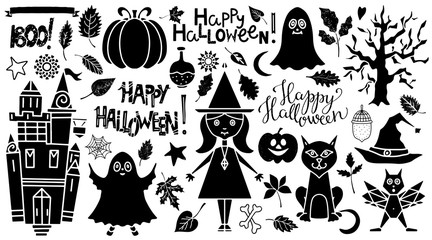 Halloween icons set