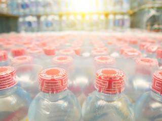 a lots of bottle of water