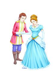 Aluminium Prints Knights A pair of beautiful prince and princess