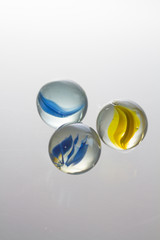 Glass ball with white background