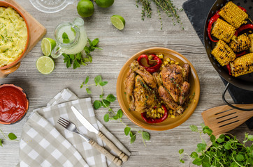 Roasted French baby Chicken - Coquelet