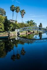 Venice Beach Canals neighbourhood near Los angeles ,California.