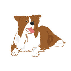 Poster Dogs Happy Dog Vector Illustration