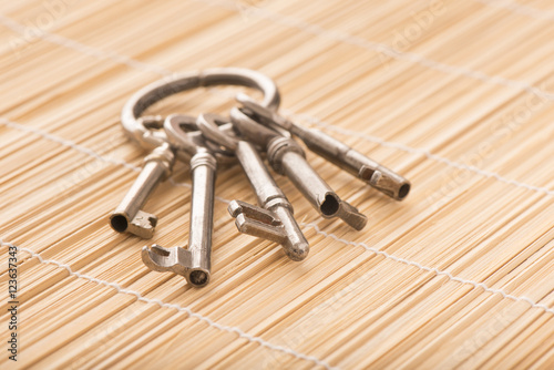 Old house keys vintage key set with ring concept image for Classic house keys