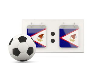 Flag of american samoa, football with scoreboard