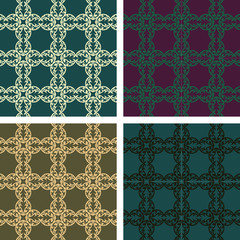 The set of pattern for the fabric, cloth, tiles and other