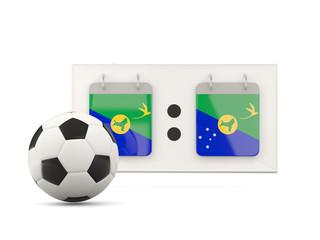 Flag of christmas island, football with scoreboard