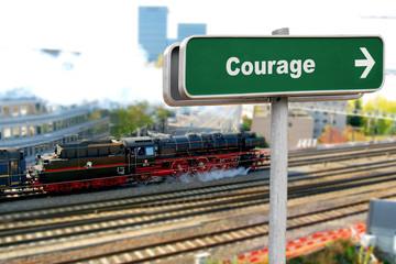 Schild 150 - Courage