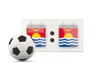 Flag of kiribati, football with scoreboard