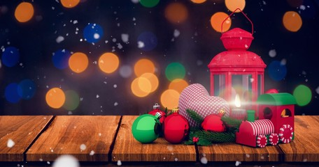 Composite image of christmas accessories