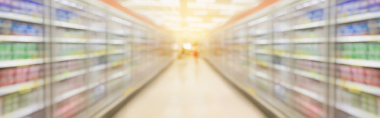 supermarket aisle blur background