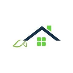 Eco House Vector Logo