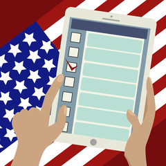 2016 Presidential Election Banner.Online voting.
