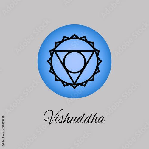 Vishuddha Throat chakra  Symbol of the fifth human chakra