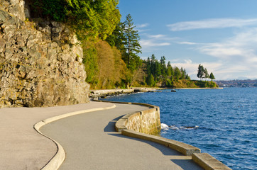 Beautiful Sea Walk at Stanley Park Canada. Fotomurales
