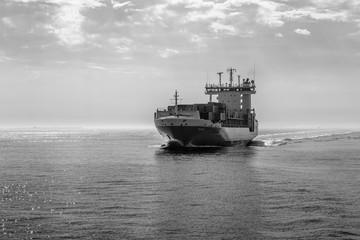 Schiff vor Helgoland