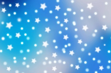 abstract winter background with snow and stars