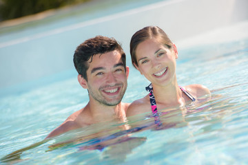 couple having a swim